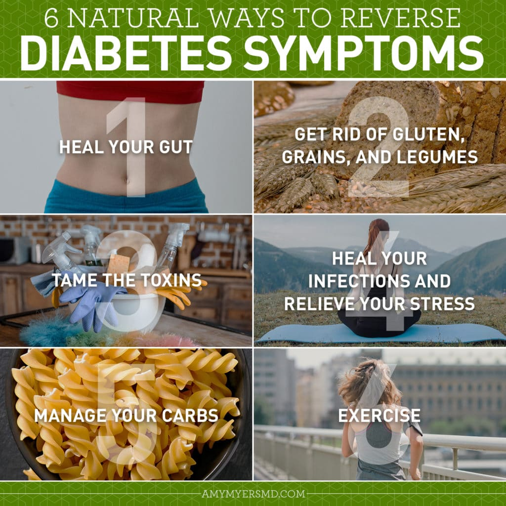 6 Ways to Reverse Diabetes Naturally - Infographic - Amy Myers MD