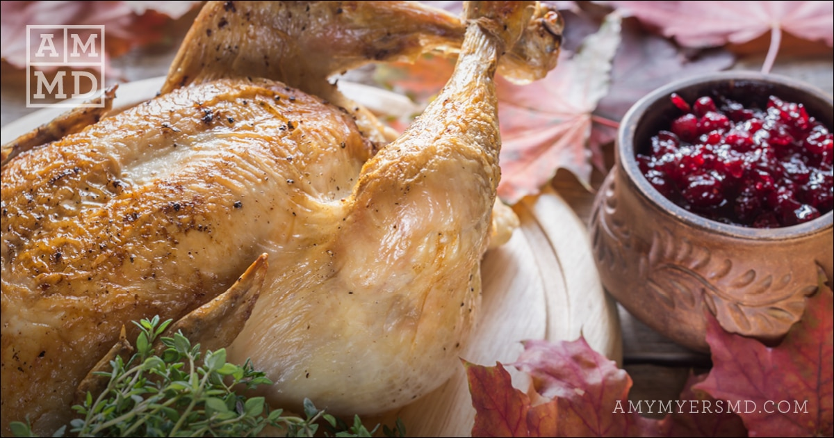 Herb-Roasted Thanksgiving Turkey and Ginger Cranberry Sauce