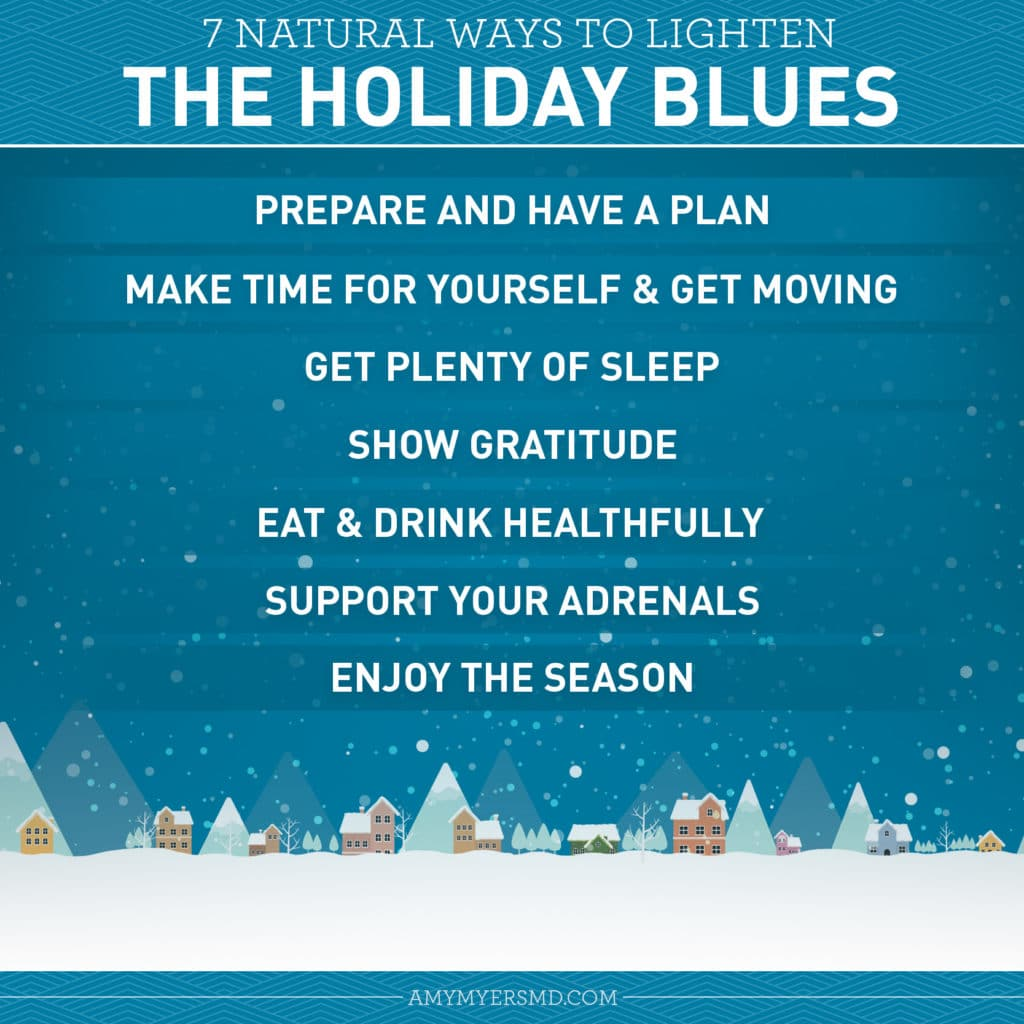 7 Natural Ways to Banish the Blues - Infographic - Amy Myers MD