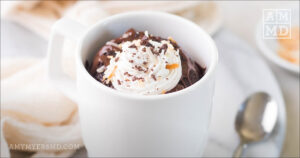 Double Chocolate Paleo Protein Mug Cake