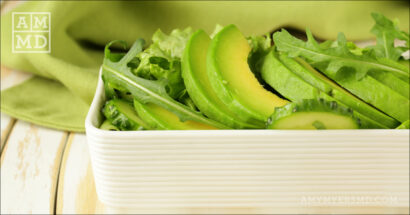 Basil and Arugula Salad with Avocado