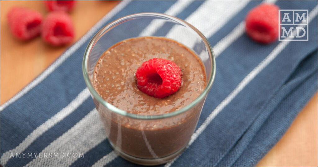 Valentine's Day Cacao Chia Seed Pudding