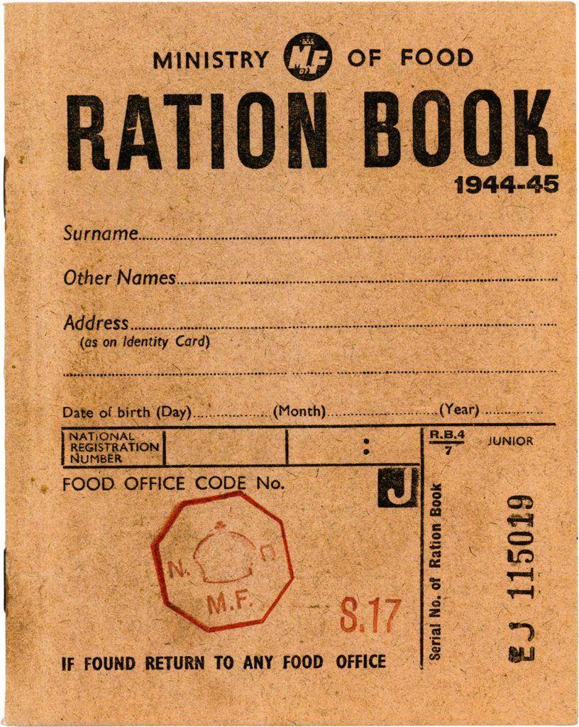 World War II era ration book