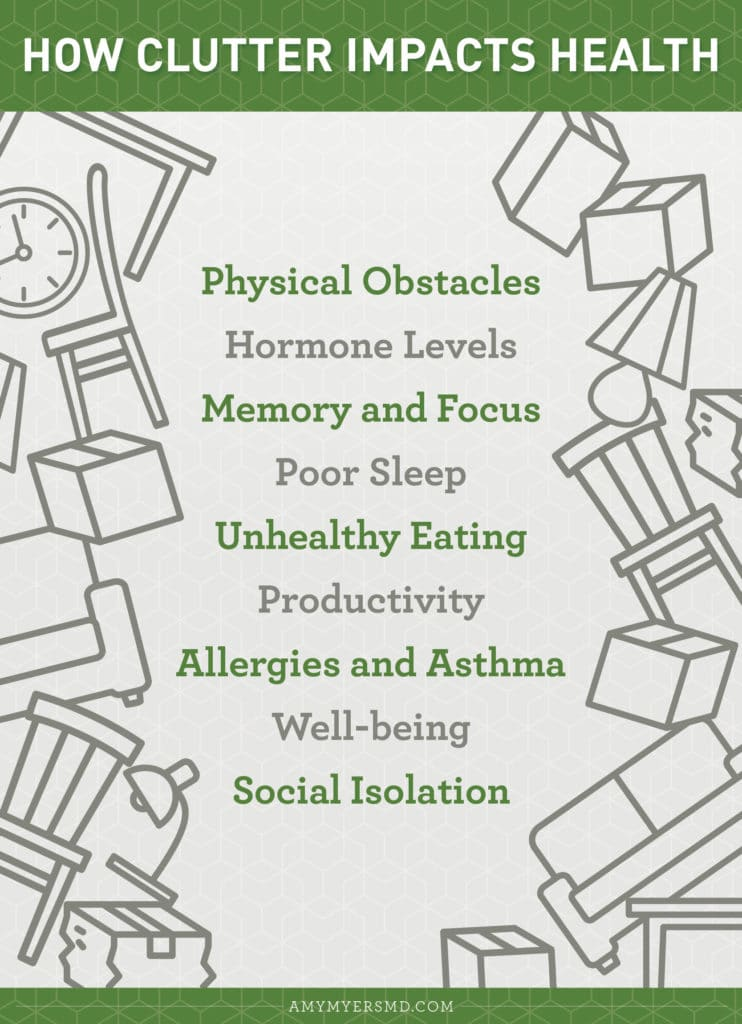 How Clutter Impacts Health - Infographic - Amy Myers MD