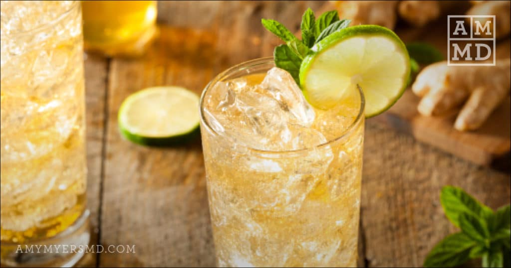 Ginger-Mint Mocktail - Collagen Protein Recipe Image - Amy Myers MD