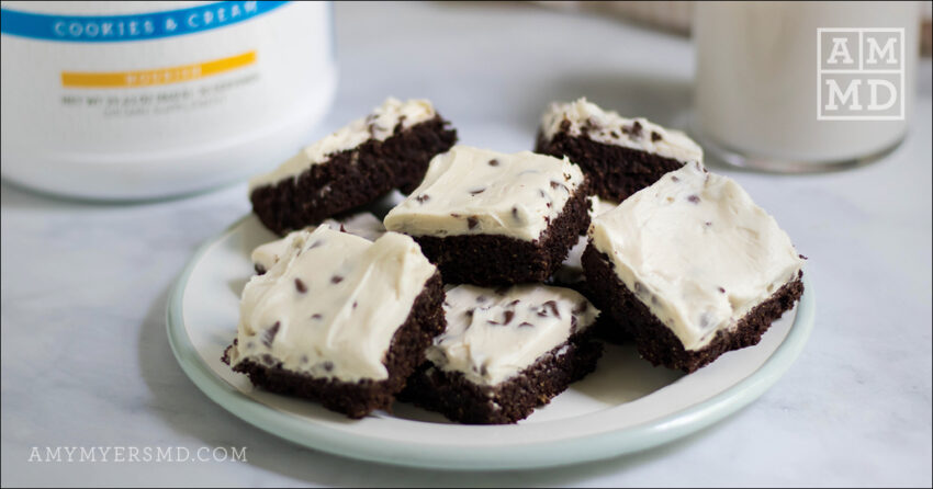 Cookies and Cream Brownie Bars