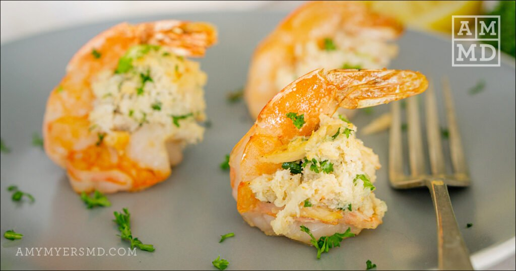 Gluten-Free Crab-Stuffed Shrimp