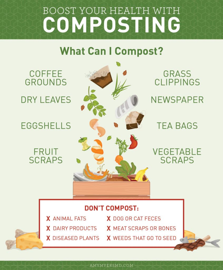 What Can I Compost? - Infographic - Amy Myers MD®