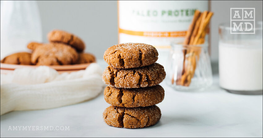 Pumpkin Spice Snap Cookies