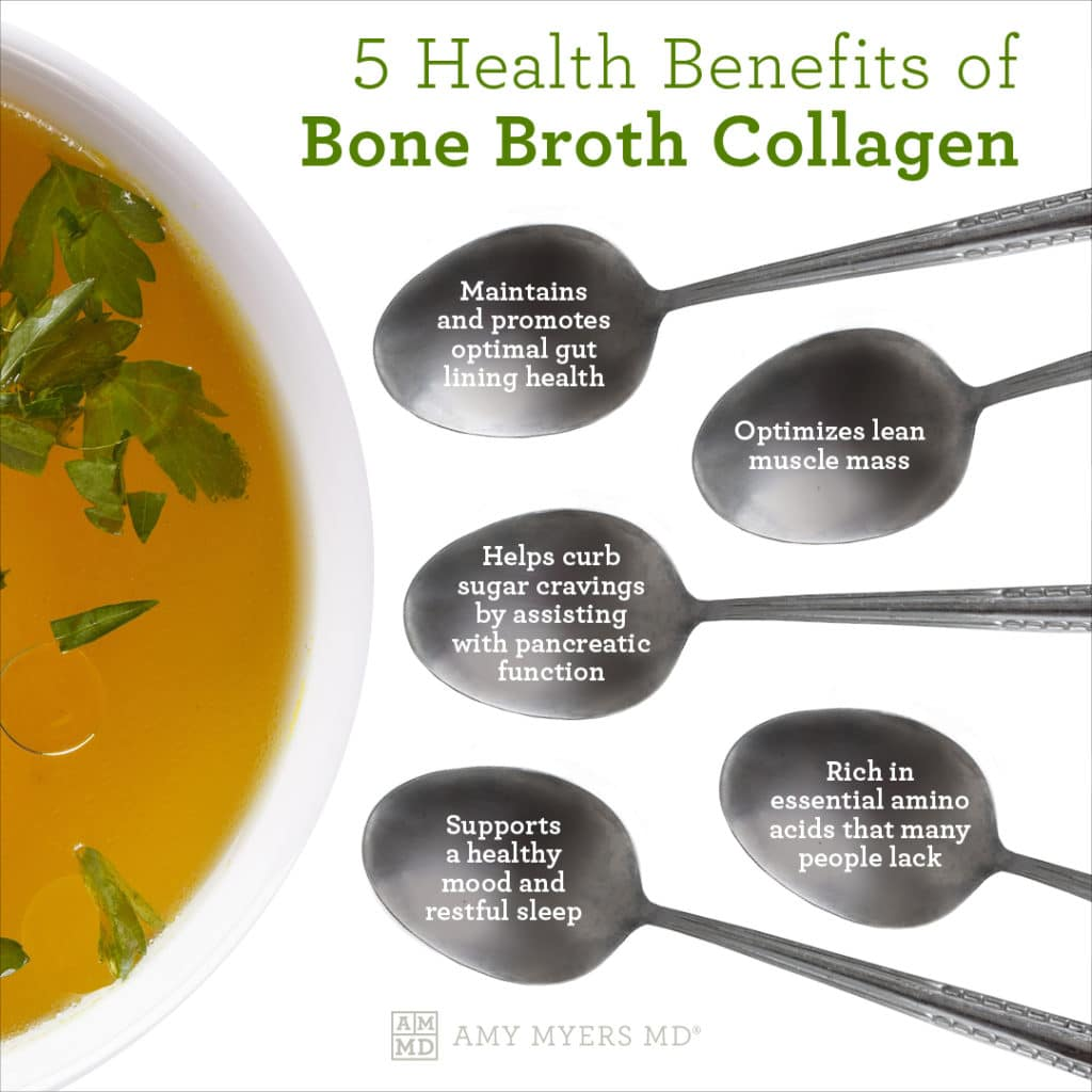 5 Health Benefits Of Bone Broth Collagen - Infographics - Amy Myers MD®