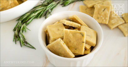 Gluten-Free Garlic Rosemary Crackers