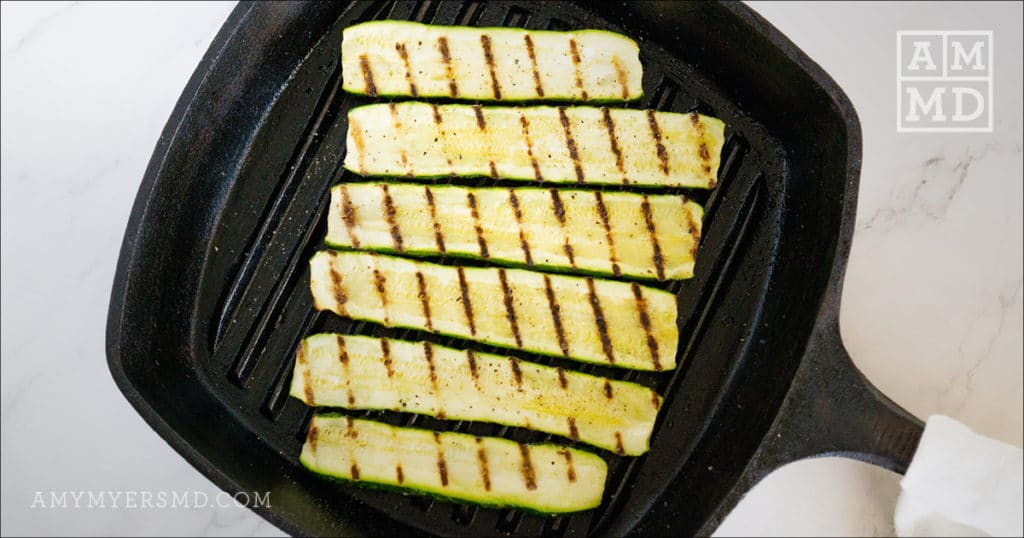 Zucchini on a grill pan