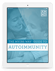 The Myers Way® Guide to Autoimmunity eBook cover on a white tablet