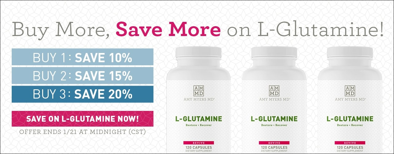 Help maintain a healthy gut lining and beat sugar cravings with L-Glutamine Capsules.