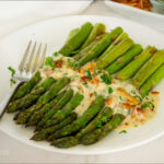 Asparagus with Creamy Bacon Sauce