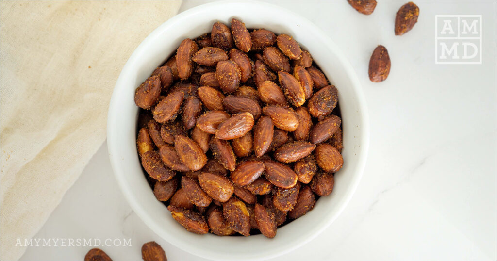 Sweet & Spicy Roasted Almonds