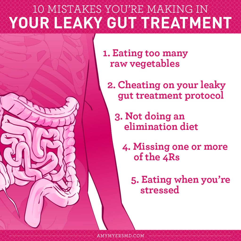10 Mistakes You're Making in Your Leaky Gut Treatment - Infographic - Amy Myers MD®