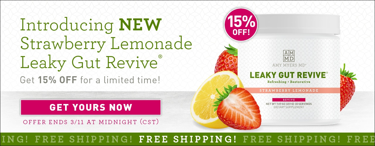 Introducing new Strawberry Lemonade Leaky Gut Revive® Get 15% off for a limited time! Get yours now. Offer ends 3/11 at midnight (CST)