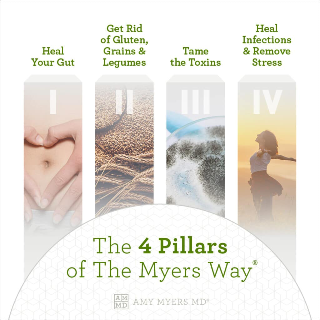 The 4 Pillars Of The Myers Way - Infographic - Amy Myers MD®