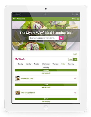 Amy Myers MD Meal Planning Tool